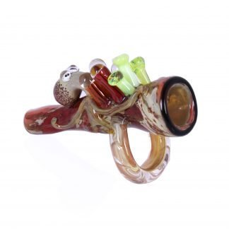 Ollie the Octopus Chillum by Empire Glassworks