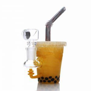 Boba Tea Custom Mini Rig Water Bubbler by Empire Glassworks