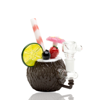 Coconut Colada Custom Mini Rig Water Bubbler by Empire Glassworks