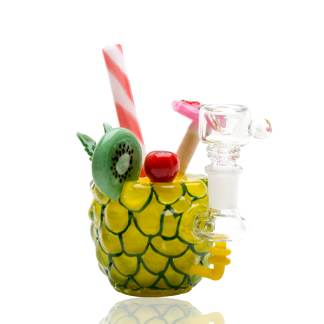 Pineapple Paradise Custom Mini Rig Water Bubbler Empire Glassworks 1
