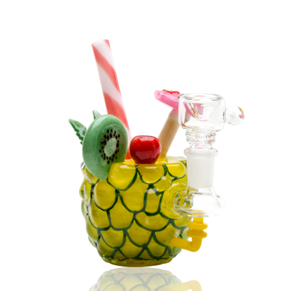 Pineapple Paradise Custom Mini Rig Water Bubbler Empire Glassworks