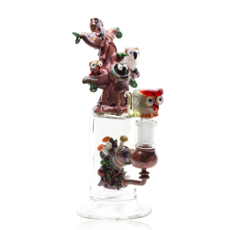 Hootie and Friends Custom Mini Rig Water Bubbler by Empire Glassworks 1