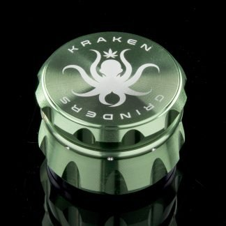 "2.2"" Diamond Ridge Grip Grinder by Kraken (Green)"