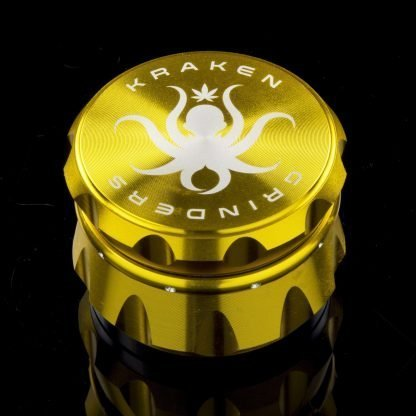 "2.2"" Diamond Ridge Grip Grinder by Kraken (Gold)"