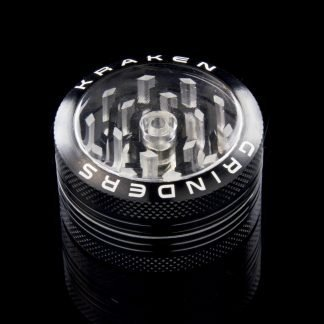 "1.5"" Clear Top Grinder w/ Push-up Bottom by Kraken"