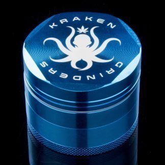 "2.2"" Diamond Grip 4-part Grinder by Kraken (Light Blue)"