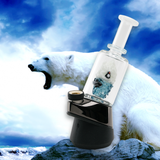 Avenge The Arctic - Custom Blown Glass Custom Glass Attachment for the Puffco Peak with Polar Bear and Orca